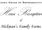 Recognition by the Arizona House of Representatives